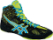 Asics Cael v6.0 Wrestling Shoes - Black/Atomic Blue/FlashYellow