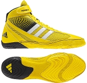 Adidas Response 3.1 Wrestling Shoes - Yellow/White/Black