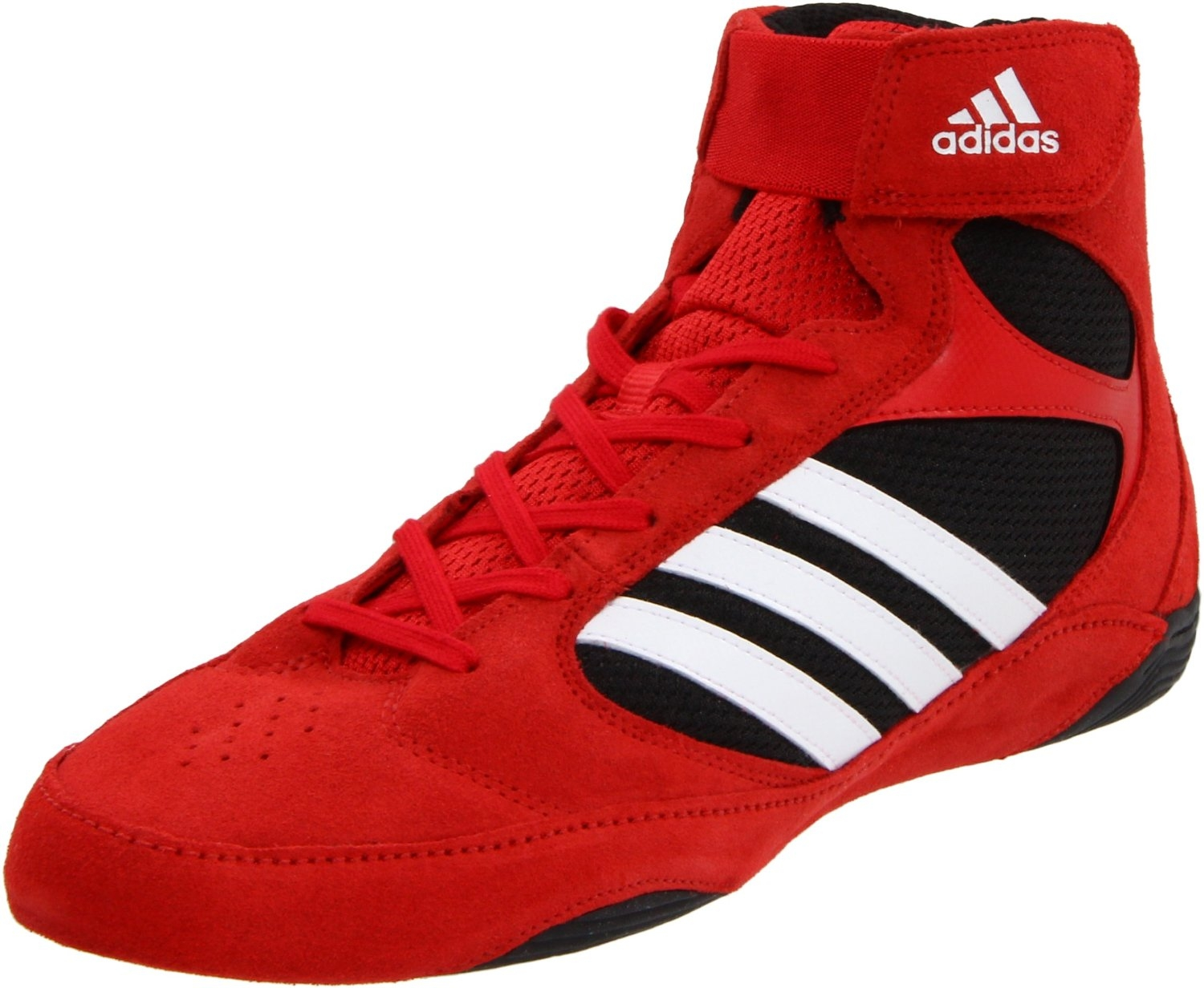 6479e5c3dd77 Adidas Pretereo 2 Wrestling Shoes - Red White Black